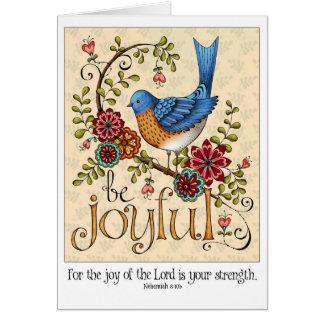 Sea alegre - tarjeta de nota en blanco