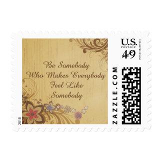 Sea alguien sello floral de la cita inspirada