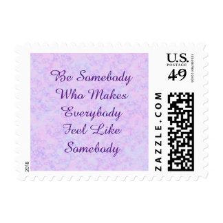 Sea alguien sello inspirado de la cita