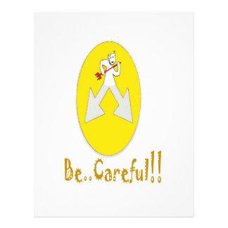 Sea amarillo cuidadoso membretes personalizados