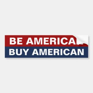 Sea americano americano de la compra etiqueta de parachoque