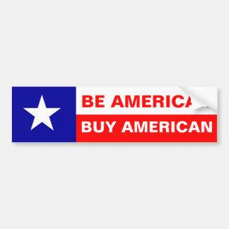 Sea americano americano de la compra pegatina de parachoque