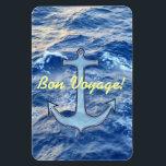 """Sea Anchor Bon Voyage Magnet<br><div class=""""desc"""">Bon Voyage Magnet ...  a favorite nautical symbol,  the anchor,  floats over a section of sunlit sea.</div>"""