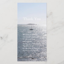 Sea and Boat 4 Sympathy Thank You Photo Card