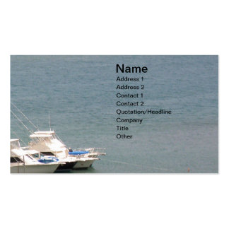 Sea and Boats Double-Sided Standard Business Cards (Pack Of 100)