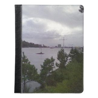 Sea and building iPad case