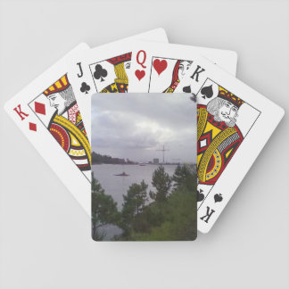 Sea and building poker cards