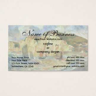 Sea and Cliffs by Pierre Auguste Renoir Business Card