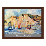 Sea And Cliffs By Pierre-Auguste Renoir Personalized Announcements