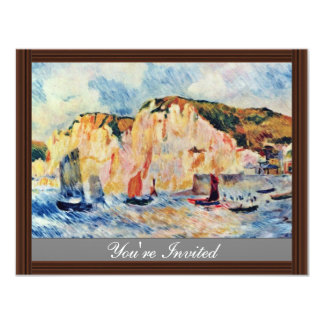 Sea And Cliffs By Pierre-Auguste Renoir 4.25x5.5 Paper Invitation Card