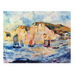 Sea And Cliffs By Pierre-Auguste Renoir Personalized Invite