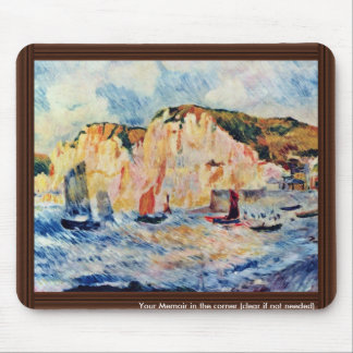Sea And Cliffs By Pierre-Auguste Renoir Mouse Pad