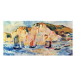 Sea And Cliffs By Pierre-Auguste Renoir Photo Card