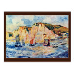Sea And Cliffs By Pierre-Auguste Renoir Postcards