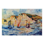 Sea And Cliffs By Pierre-Auguste Renoir Poster