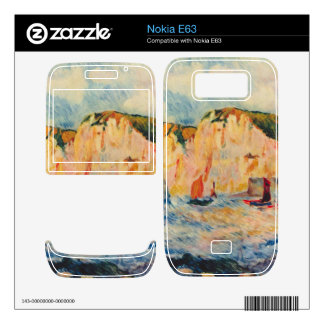Sea and Cliffs by Pierre Renoir Nokia E63 Decal