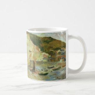 Sea and Cliffs by Pierre Renoir, Vintage Fine Art Coffee Mug