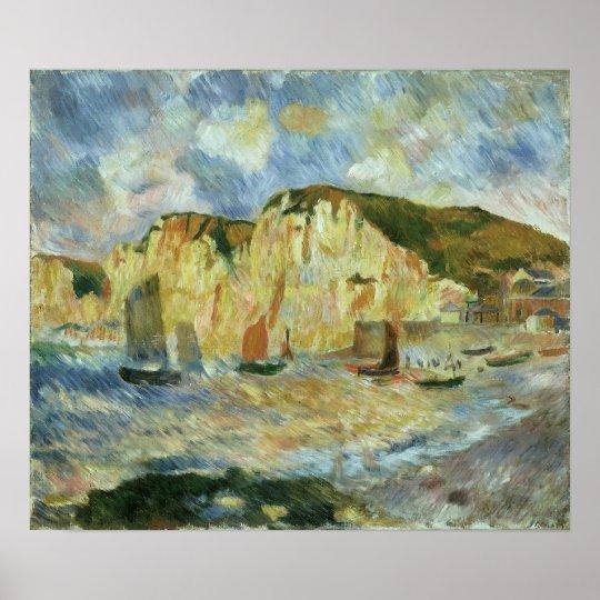 Sea and Cliffs by Pierre Renoir, Vintage Fine Art Poster