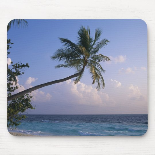 Sea and Palm Tree Mouse Pad