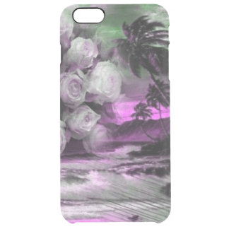 Sea and roses in purple clear iPhone 6 plus case