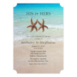 Sea and Sand Couple's Wedding Shower 5x7 Paper Invitation Card