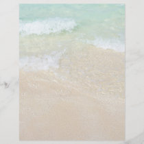 Sea and Sand Tropical Ocean Background Blank