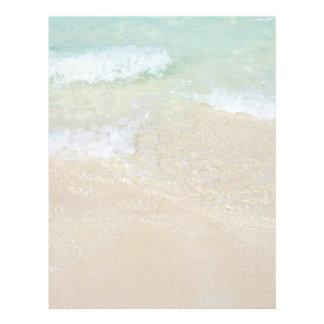 Sea and Sand Tropical Ocean Background Blank Letterhead