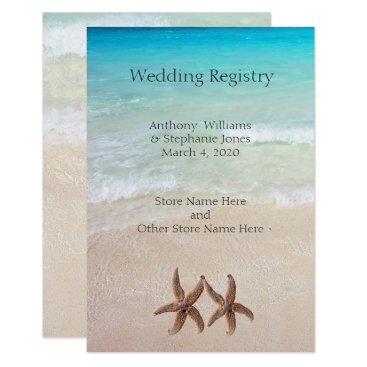 BlueHyd Sea and Sand Wedding Registry Enclosure Card