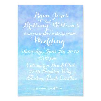 "sea and sky II wedding invitation 5"" X 7"" Invitation Card"