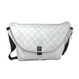 Sea Anemone Gingham Pattern Courier Bag