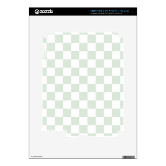 Sea Anemone Gingham Pattern Decal For iPad 3