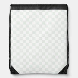 Sea Anemone Gingham Pattern Drawstring Bag
