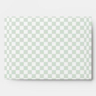 Sea Anemone Gingham Pattern Envelope