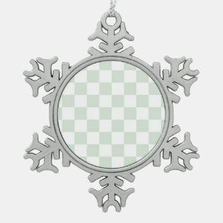 Sea Anemone Gingham Pattern Ornament