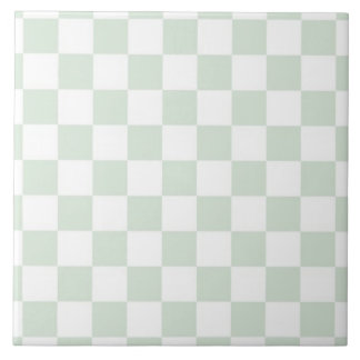 Sea Anemone Gingham Pattern Tile