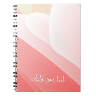 'Sea Anemone' Smooth Curved Graphic Design Notebook