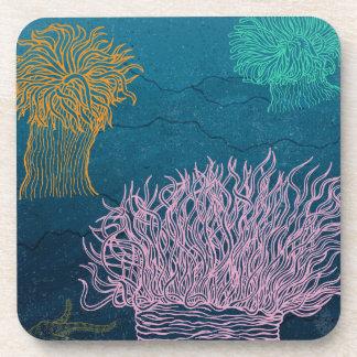 Sea anemones beverage coaster