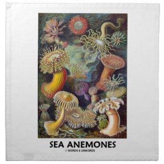 Sea Anemones Printed Napkin