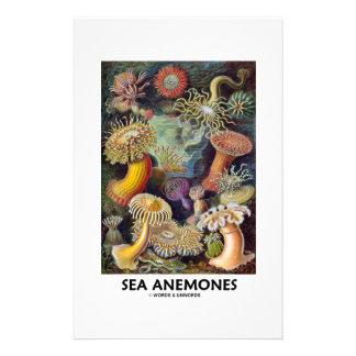 Sea Anemones Stationery