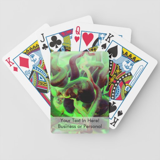 Sea anenome red green photo bicycle playing cards