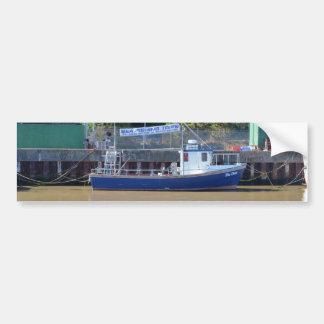Sea Angling Boat Blue Dawn Car Bumper Sticker