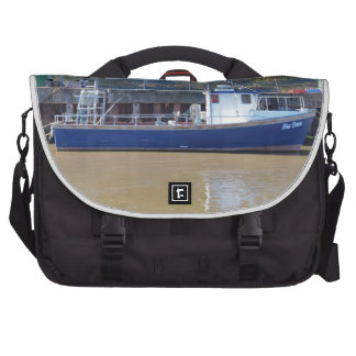 Sea Angling Boat Blue Dawn Laptop Bags