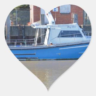 Sea Angling Boat Boy Ellis Heart Sticker