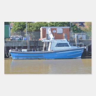 Sea Angling Boat Boy Ellis Rectangular Sticker