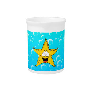 Sea Animal Cartoon Beverage Pitcher