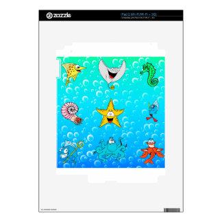 Sea Animal Cartoon iPad 2 Skins