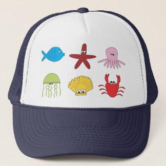 Sea Animal Kids Illustration Hat
