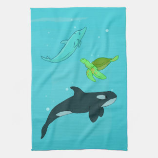 Sea Animals Hand Towel