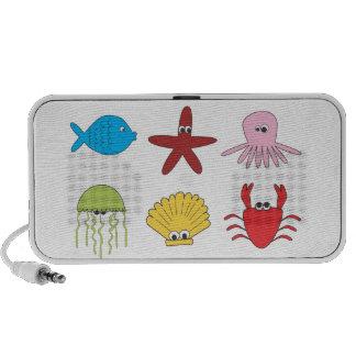 Sea Animals Kids Illustration Doodle Travelling Speaker
