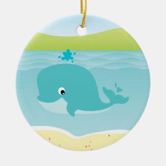 Sea animals, whale and starfish Kids Ornament